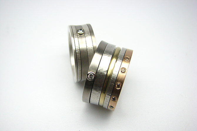 Rings: Diamonds, Yellow Gold, Red Gold, White Gold & Silver