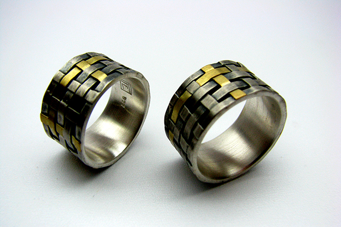 Rings: Yellow Gold & Silver