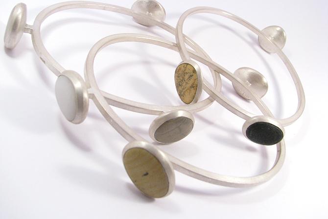 Bangles: Pebble & Silver