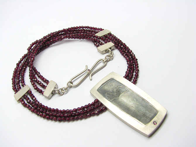 Necklace: Garnet & Silver