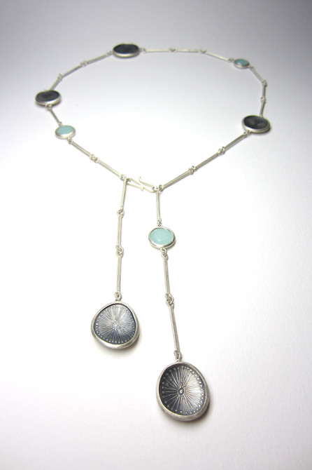 Necklace: Aqua Calci & Silver