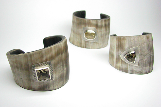 Cuffs: Smokey Quartz, Rutilated Quartz & Silver