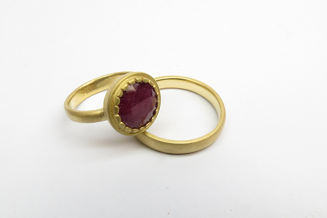 Rings: Ruby & Yellow Gold