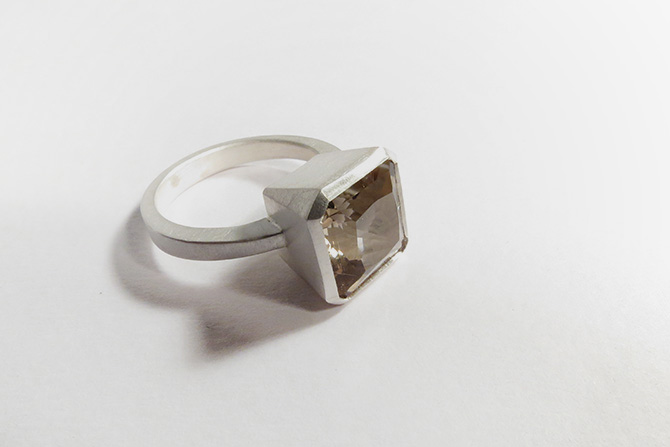 Ring: Smokey Quartz & Silver