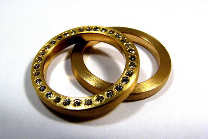 Rings: Diamonds &  Yellow Gold